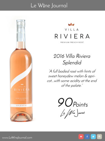 Le Wine Journal: Villa Riviera Splendid 90 Points